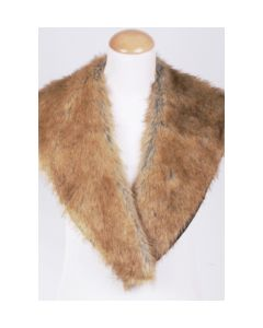 Goldenrod faux fur collar