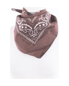 Brown / white bandana with classic print