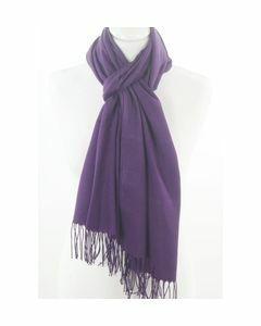 Plain red pashmina scarf, slim cut