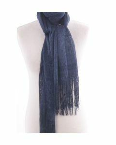 Donkerblauwe glitter net sjaal