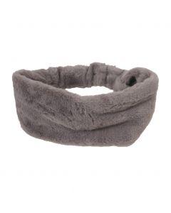 Kunstbont haarband in grijs