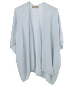 Kasjmier-blend vest in lichtblauw