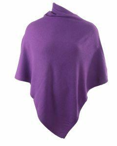 Paarse kasjmier-blend poncho