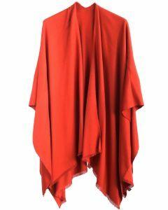 Effen omslagdoek in roest-oranje