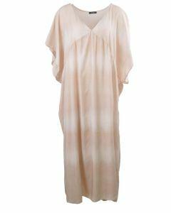 Licht-oudroze maxi jurk met kleurverloop