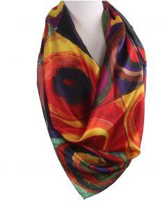 Vierkante zijde sjaal met afbeelding van ''Cirkels'' van Wassily Kandinsky