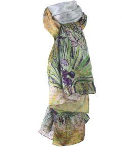 Zijden sjaal met schildering van Vincent van Gogh