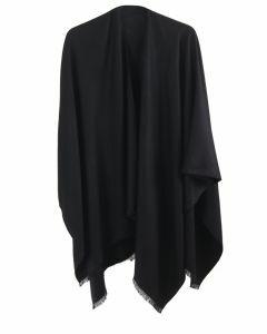 Effen omslagdoek in zwart