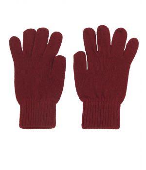 Handschoenen in donkerrood