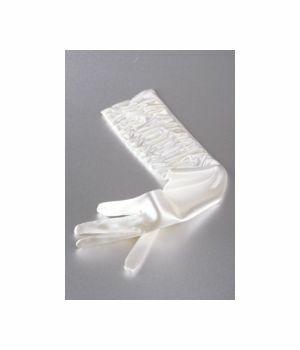 Ivory satin stretch party gloves