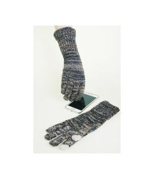 Trendy beige / grey  sparkling I-touch gloves