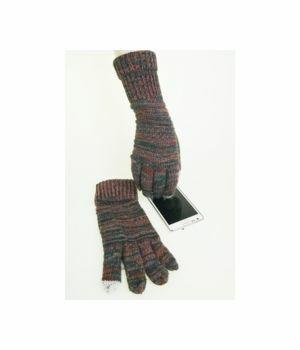 Trendy petrol/terra  sparkling I-touch gloves