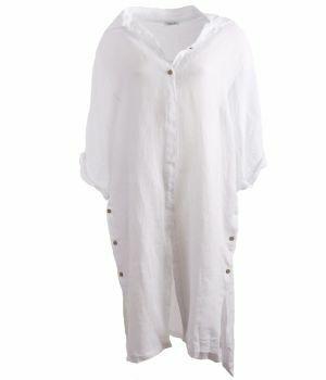 Linnen jurk in de kleur wit